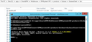 Essbase Client MSI (EssbaseClient.exe) installation and version check