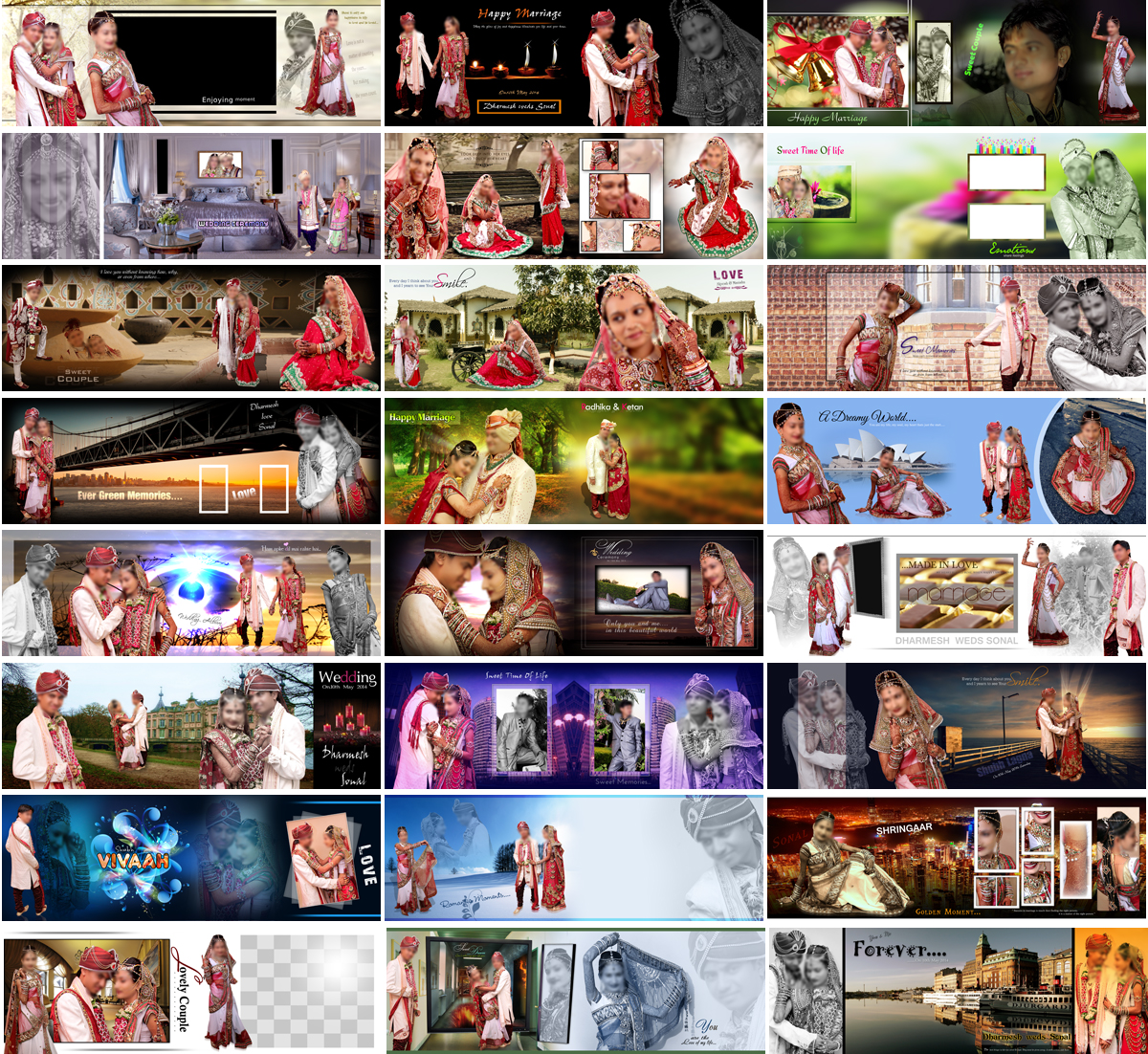 Wedding Album 12 X 36 PSD Designs - 2020