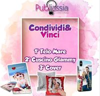Logo Vinci gratis cuscino glammy, cover e telo mare personalizzati con le vostre foto!