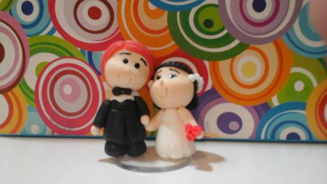 noivos em biscuit lembrancinhas