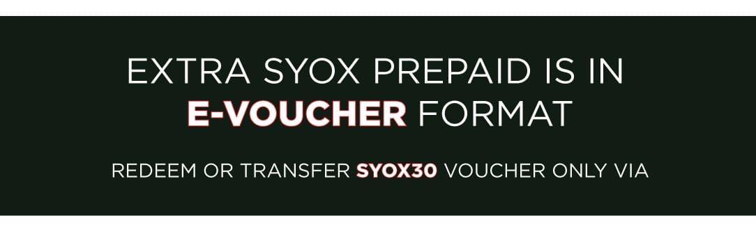 EXTRA SYOX PREPAID VOUCHER