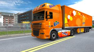 Fanta trailer and skin for DAF XF