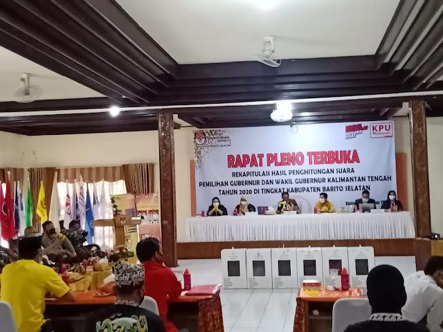 KPU Barsel Gelar Rapat Pleno Hasil Rekapitulasi Pilgub dan Pilwagub Kalteng Secara Terbuka