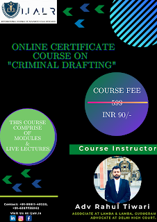 ONLINE CERTIFICATE COURSE ON CRIMINAL DRAFTING