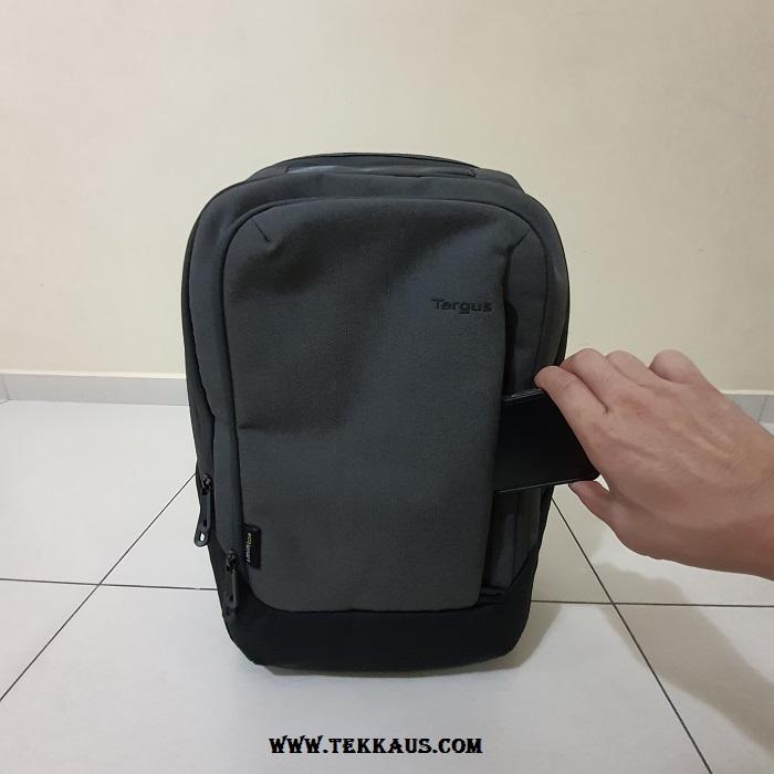 Targus Cypress EcoSmart Hero Backpack Quick Stash Pocket