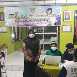 Pemdes Kadilangu, Kangkung Lakukan Vaksinasi kepada 140 Lansia