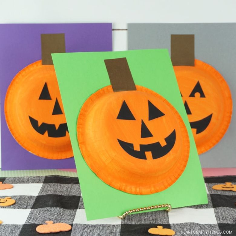 Paper bowl Halloween Pumpkin craft