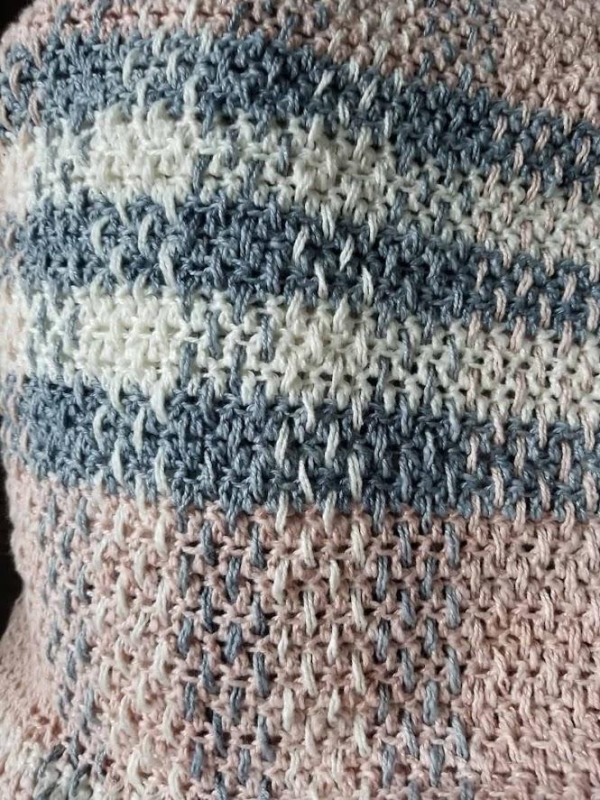 Blushberry Plaid Tartan Wrap Crochet Pattern