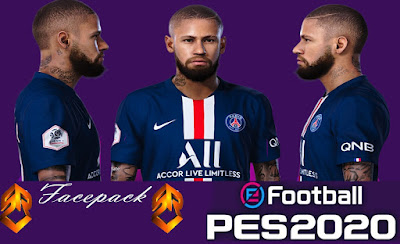 PES 2020 Faces Neymar Jr by SR