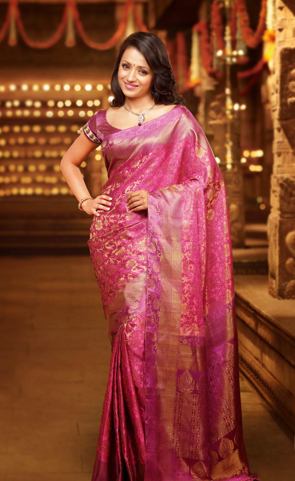 Trisha Glamorous Photos In Sareee  Latest Tamil Actress