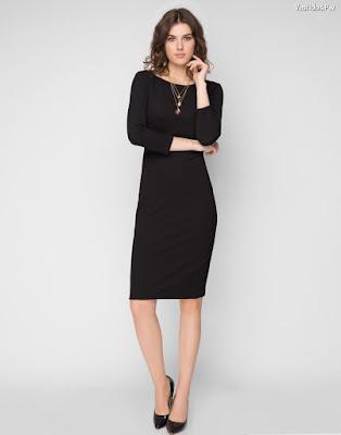 Vestidos negros con tacones