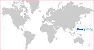 Gambar Peta letak Hong Kong