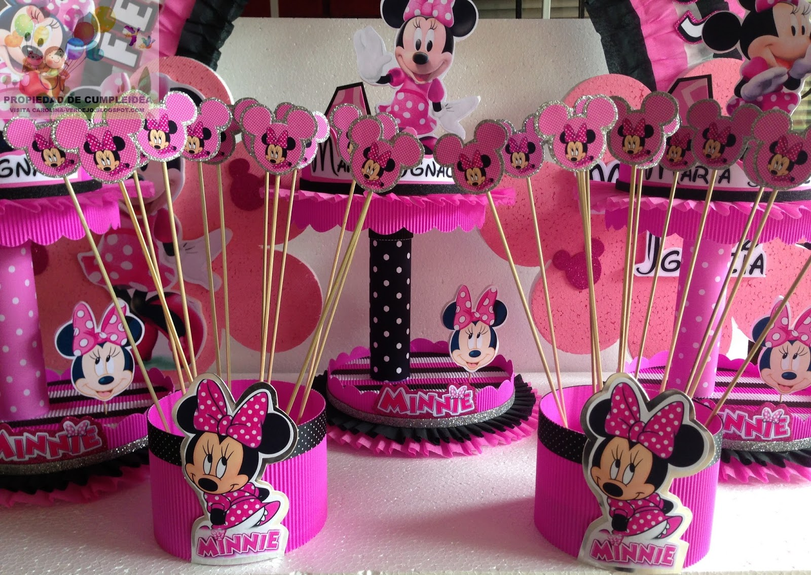 Decoraciones infantiles minnie mouse - Decoracion cumpleanos bebe ...