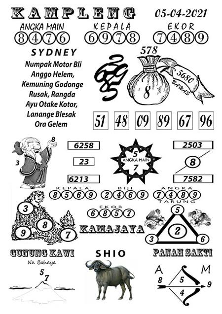 Kampleng Sidney Senin 05-Apr-2021