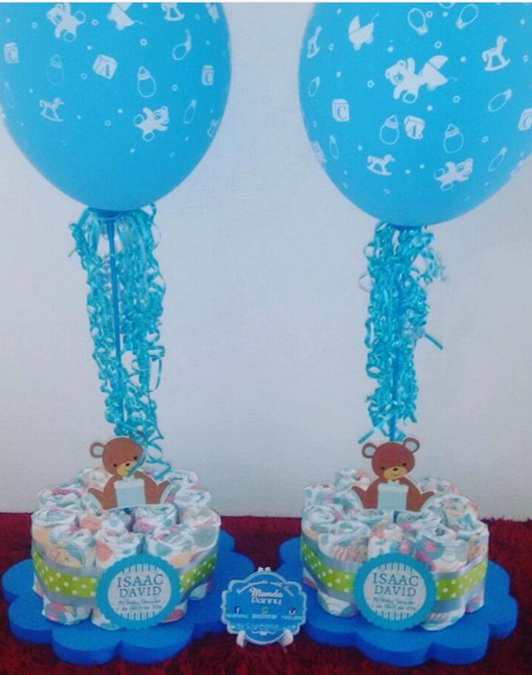 101 Fiestas Lindos Centros De Mesa De Baby Shower