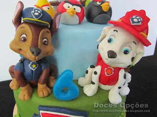 bolo patrulha pata doces opções bragança