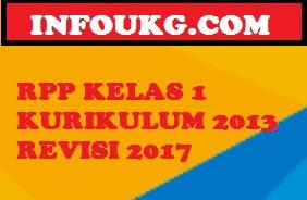 Unduh RPP Kelas 1 SD Tema 5,6,7 & 8 Semester 2 Kurikulum 2013 / K13 Revisi 2017