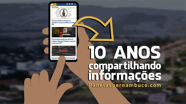 10 anos compartilhando informações de Panelas-PE na Internet