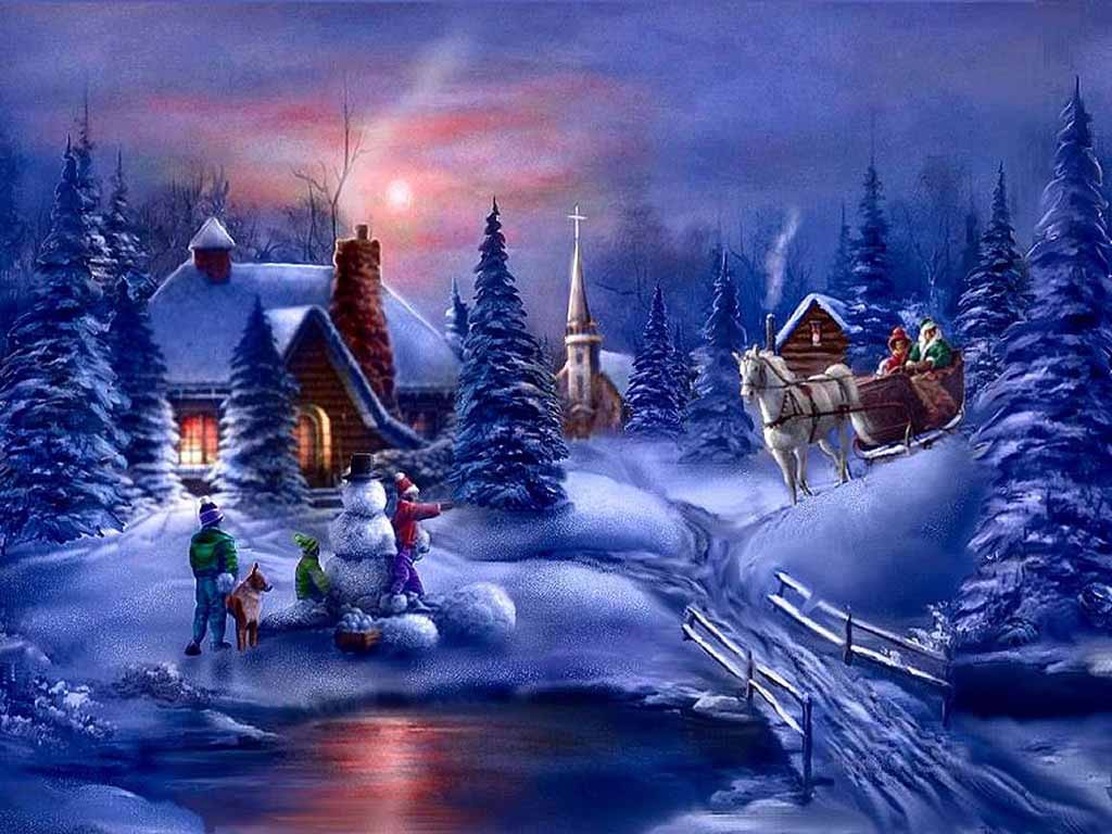 Winter Christmas Backgrounds: HD Wallpapers: Winter Scenes For Desktop