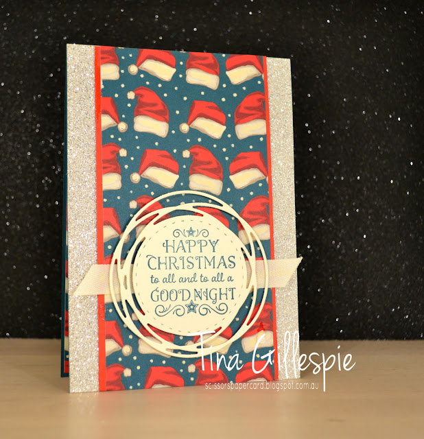scissorspapercard, Stampin' Up!, Art With Heart, Greatest Part Of Christmas, Night Before Christmas DSP, Painted Labels Dies, Glimmer Paper