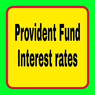 Provident Fund - Interest rates
