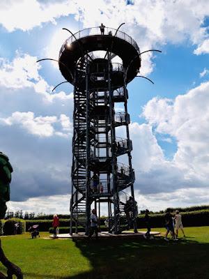 Wieża widokowa w Ogrodzie Hortulus Spectabilis, Dobrzyca