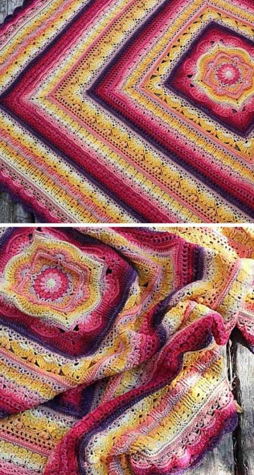 Phoenix Blanket - Free Crochet Pattern