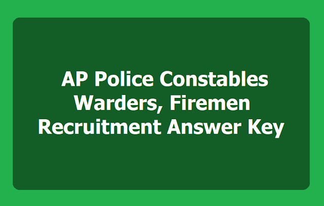 AP Police Constables Answer Key