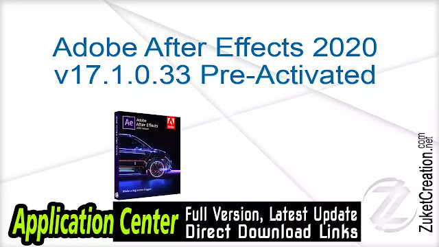 Adobe After Effects 2020 v17.1.0.33 Pre-Activated