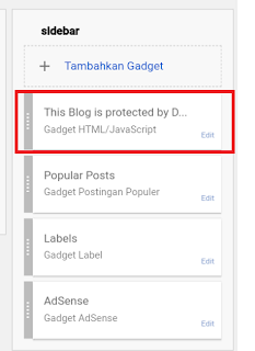 Cara Memasang DMCA Protection di Blogger