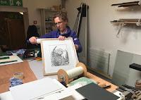 In the framing studio