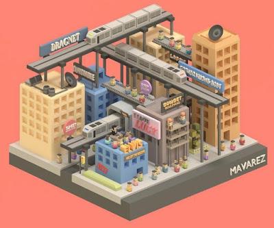 Blocky Buildings City