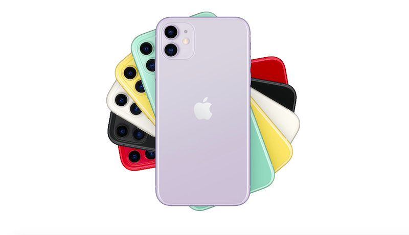 Apple iPhone 11 featuring all color variants