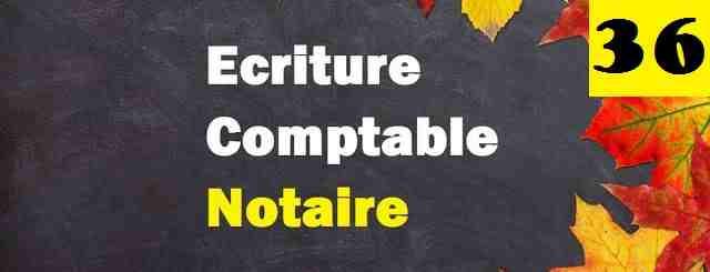 Ecriture comptable facture de notaire