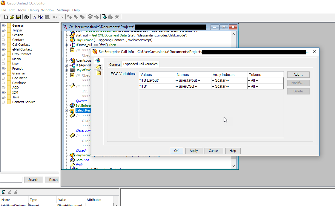 Web Maxtor: UCCX Finesse using custom Call Variable Layouts