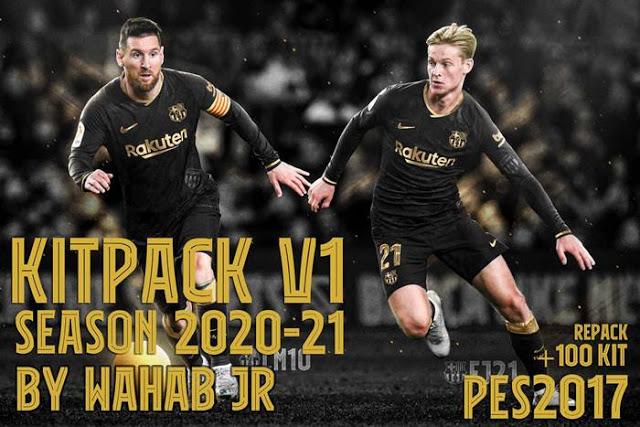 PES 2017 Leaked Kitpack Season 2020-2021 (100+ Kits)