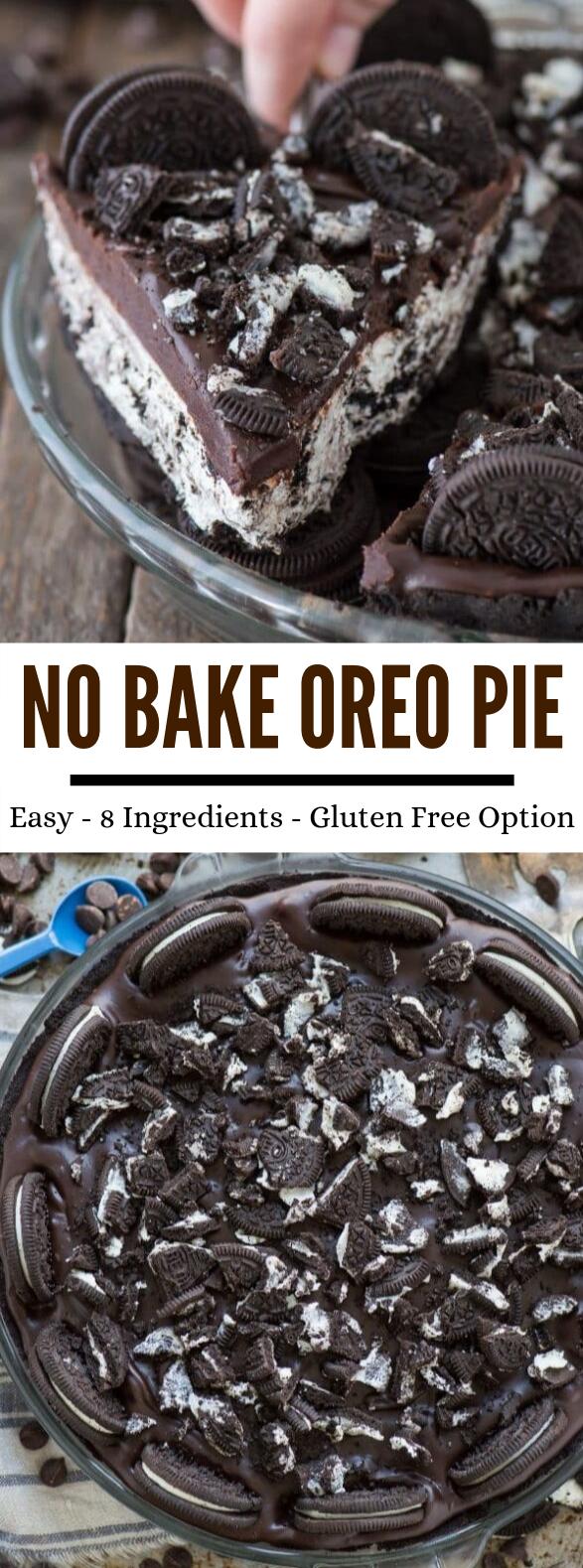 No Bake Oreo Pie #desserts #cake