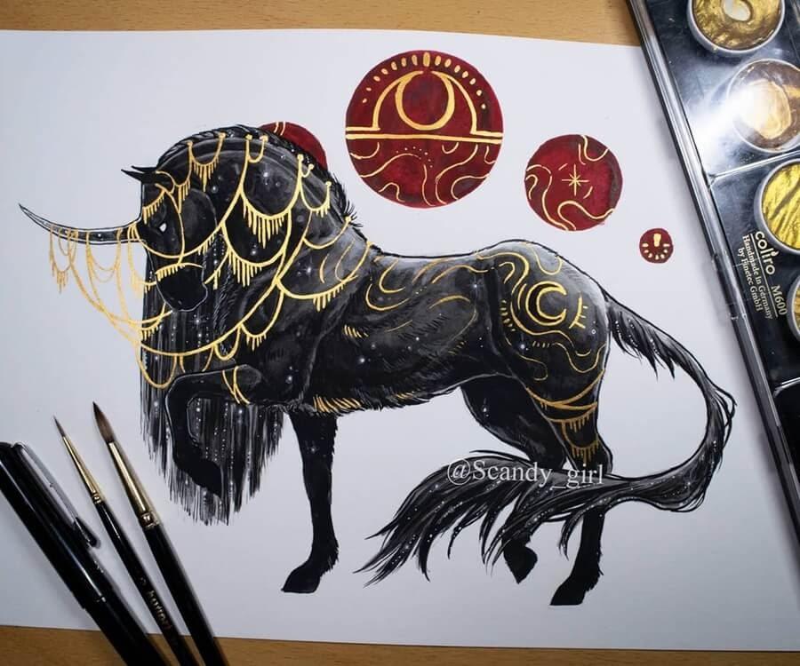 04-Night-Unicorn-Mythology-Jonna-Hyttinen-www-designstack-co