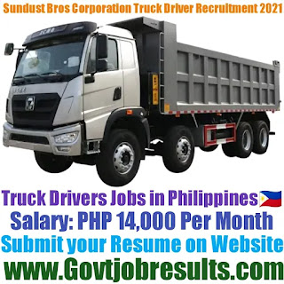 Sundust Bros Corporation Company Truck Driver Recruitment 2021-22