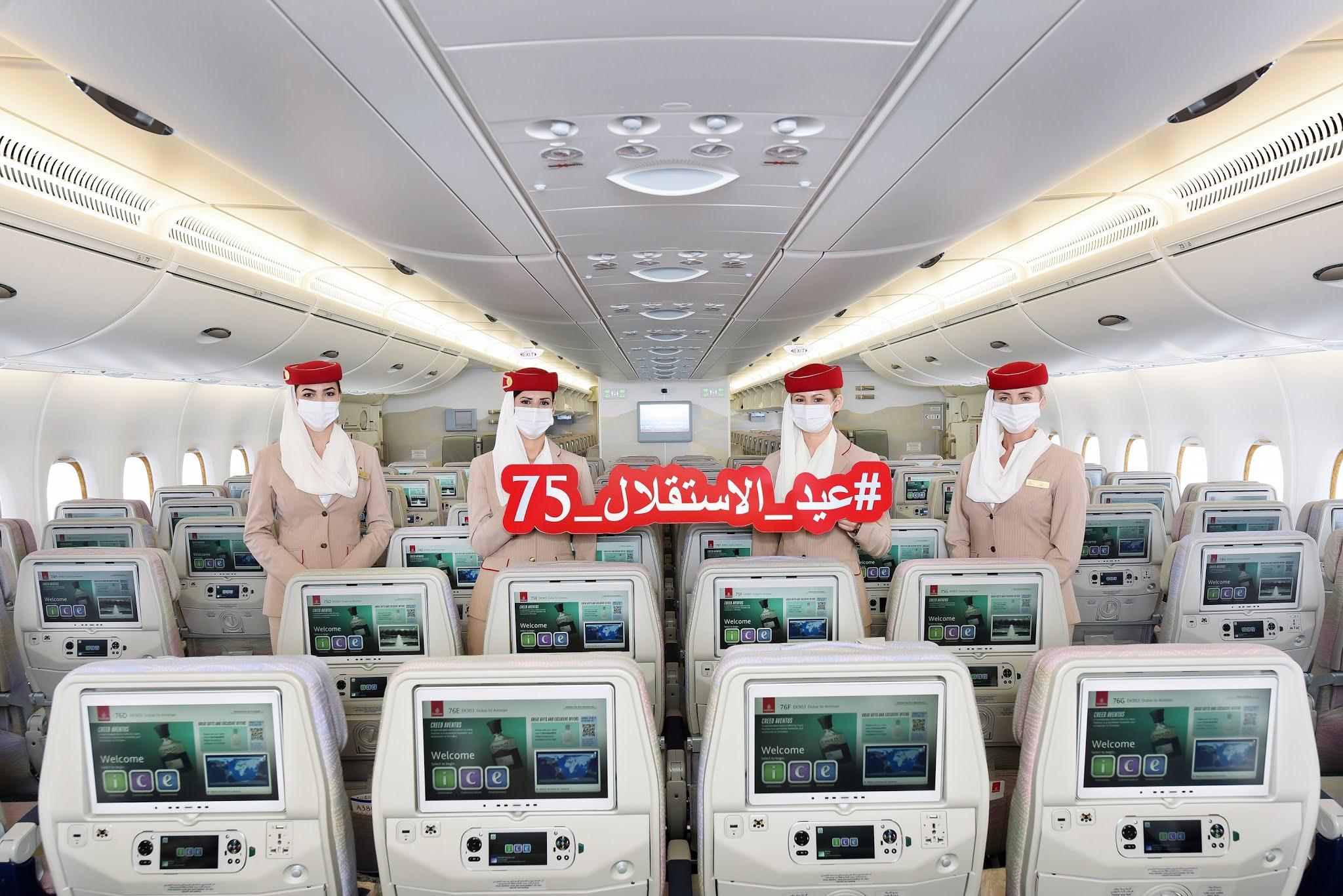 Emirates marks Jordan Independence Day