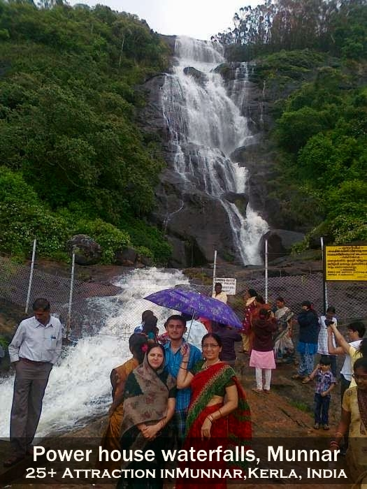 Munnar Attractions : Power house waterfalls Munnar