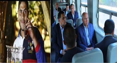 اول زيارة مفاجئة, وزير النقل, حادث قطار الاسكندرية, كامل الوزير, نائب رئيس السكة الحديد, المواطنين,