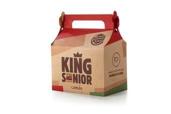 Burger King lança o primeiro combo para idosos acima de 70 anos