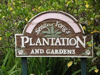 The Welcome sign - Senator Fong's Plantation and Gardens, Kaneohe, Oahu, HI