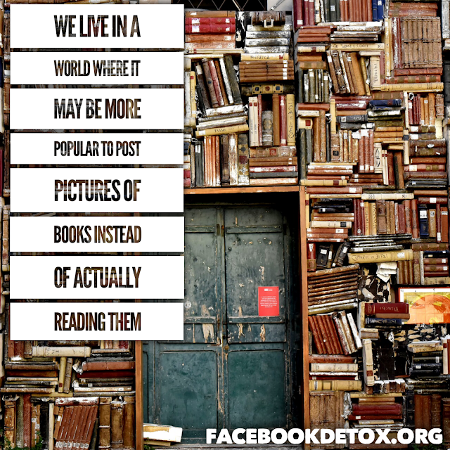 image of books, with a quote
