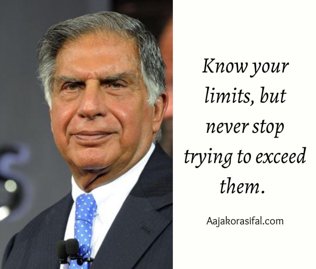 Ratan Tata inspiring quotes on business, success and life