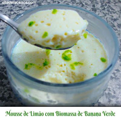 Mousse de limão com biomassa de banana verde