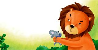قصة قصيرة مكتوبة: الأسد ملك الغابة والفأر الصّغير