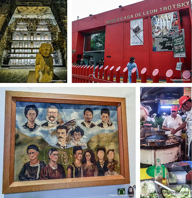 Atrações do bairro de Coyoacán, na Cidade do México