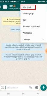 Cara mengunci Chat WA Hanya Admin Yang Berkuasa